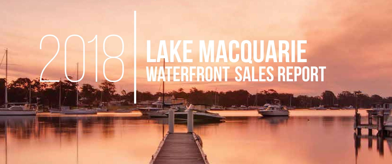 Lake Macquarie waterfront sales report