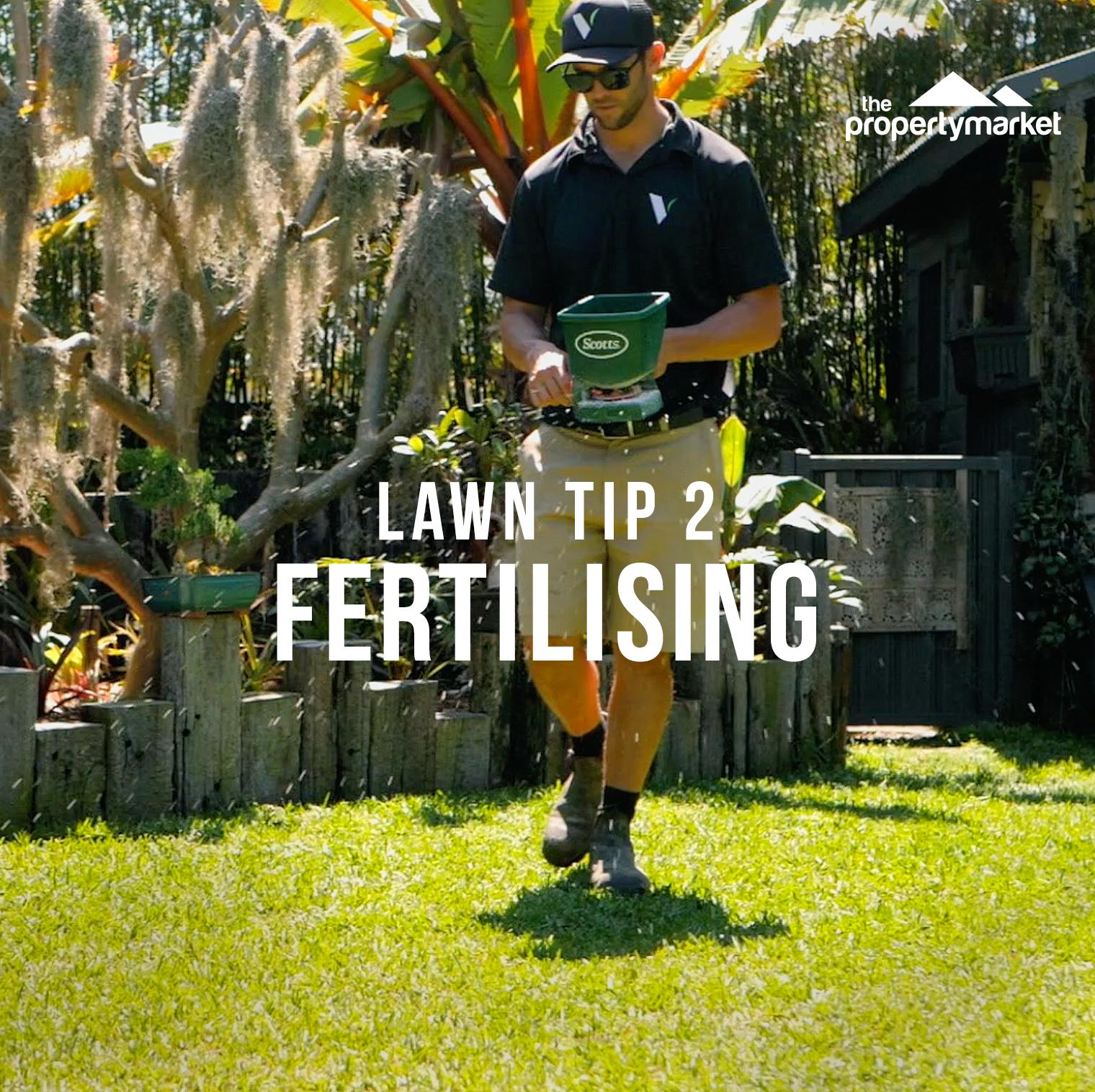 Lush lawn tip 2: fertilising