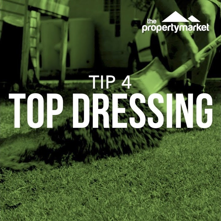 Lush lawn tip 4: top dressing